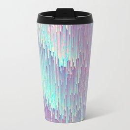 Iridescent Glitches Travel Mug
