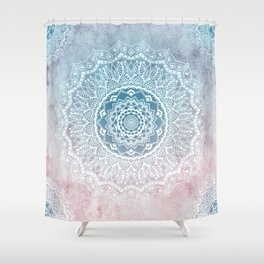 VINTAGE SPRING LACE MANDALA Shower Curtain