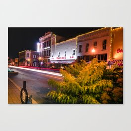 Bentonville Downtown Skyline Town Square Canvas Print