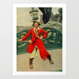 """Captain Keitt"" Pirate Art by Howard Pyle Art Print"