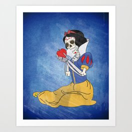Day of the Dead/Snow White Art Print