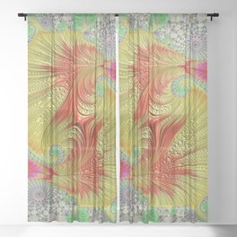 abstract fractal artwork Sheer Curtain