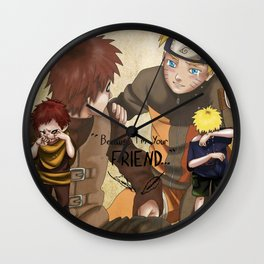 """Because I'm Your Friend"" Wall Clock"