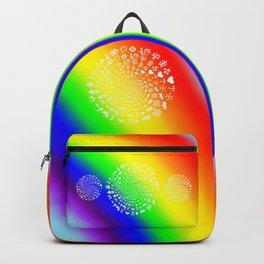 Rainbow Love Symbol Mandala Backpack