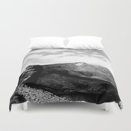 Teide in black Duvet Cover