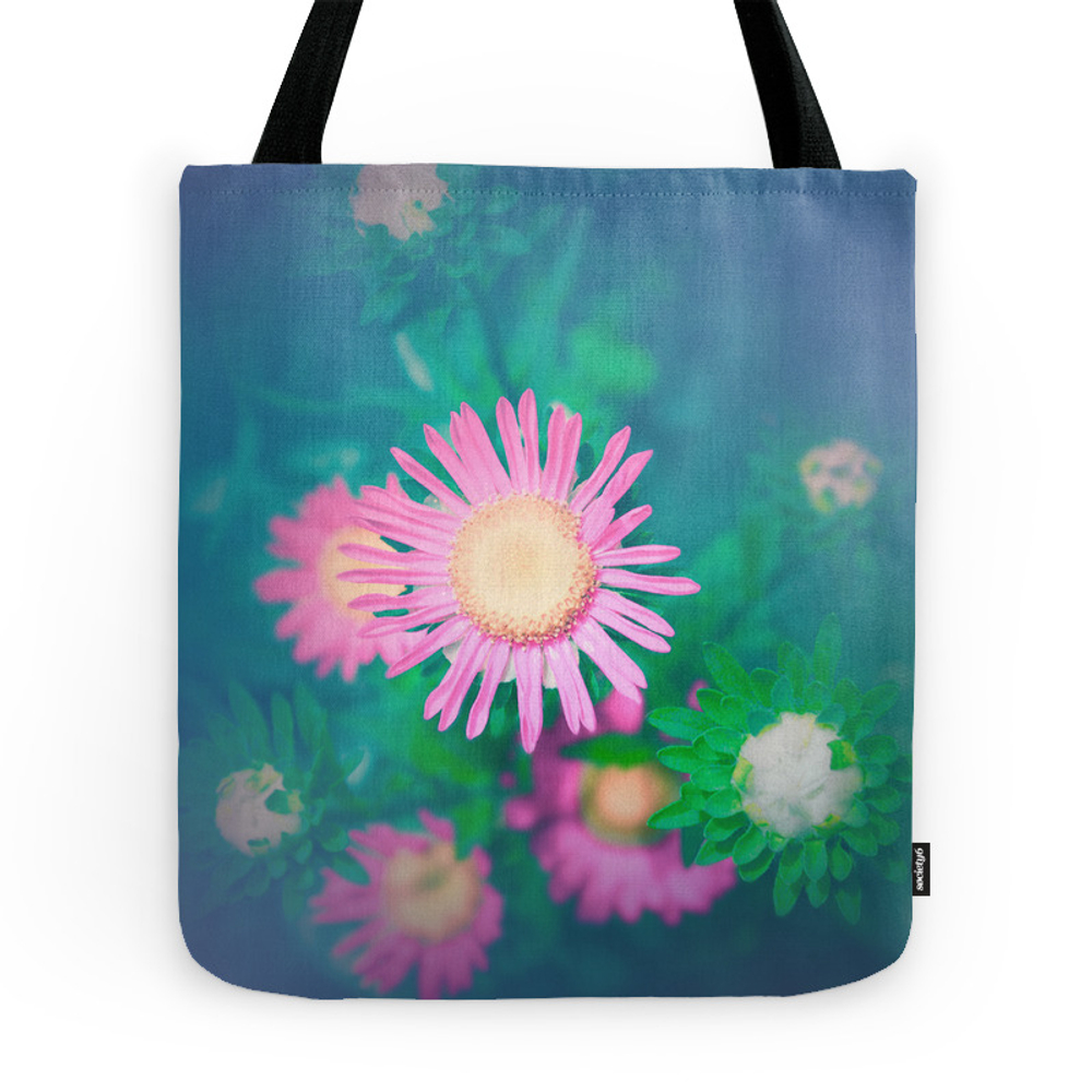 Constellation Pink Flowers Tote Purse by popartimages (TBG7721518) photo