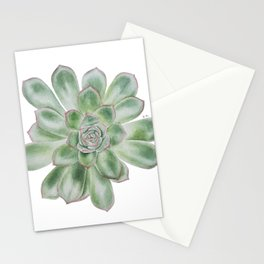 Echeveria Pulidonis, succulent power Stationery Cards