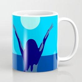 Blue sky and moon is calling me.. Coffee Mug