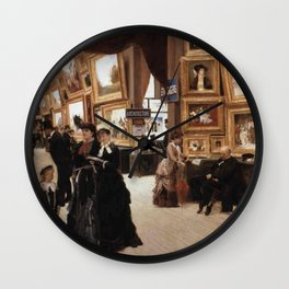 Édouard Joseph Dantan - A Corner of the Salon in 1880 (Un Coin du Salon en 1880) Wall Clock