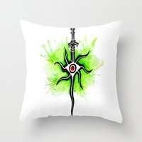 dragon age inquisition Throw Pillows featuring Dragon Age Inquisition - Inquisitor Symbol by Salzburn Designs Shop