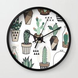 S(weet)ucculent Dreams Wall Clock