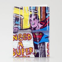 supergirl Stationery Cards featuring I Need a Supergirl by Ibbanez