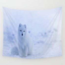 The Arctic Fox in Iceland Wall Tapestry