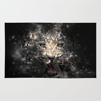 space cat Area & Throw Rugs featuring Space Cat by Nyx Illustration and Design