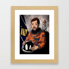 Space Captain James Framed Art Print