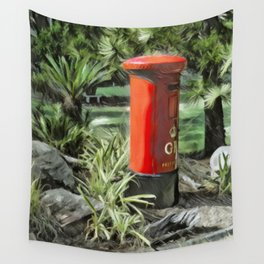 King George VI Red Post Box Wall Tapestry