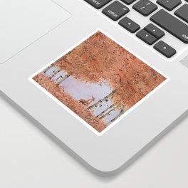 Autumn Birch Fox Sticker