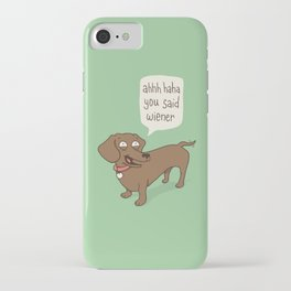 Immature Dachshund iPhone Case