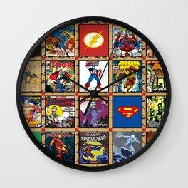Comic cartoon quilt blanket Wall Clock
