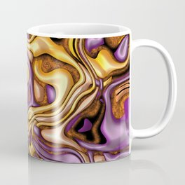 funky melted purple and gold Coffee Mug