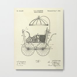Child's Carriage-1896 Metal Print