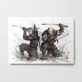 Samurai Duo - Samurai Witchers! Metal Print