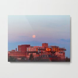 March Moonset in Portland, Maine (2) Metal Print