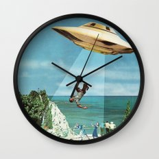 UFO Abduction Wall Clock