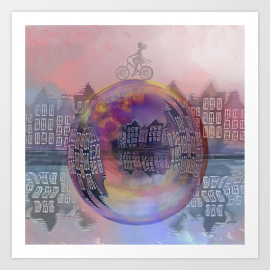 All bubbles are magical Art Print