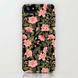 Tropical Pink Floral Pattern iPhone Case