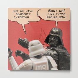 Slapping a stormtrooper Metal Print