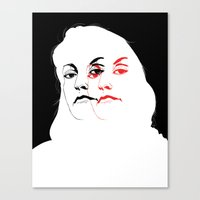 laura palmer Canvas Prints featuring Who is Laura Palmer? by jared stumpenhorst