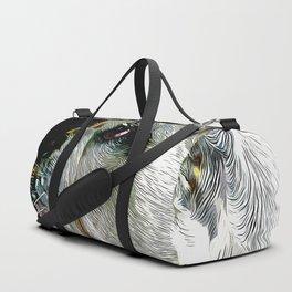 english bulldog dog vector art Duffle Bag
