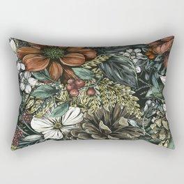 Aesthetic Flower Design Rectangular Pillow