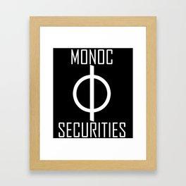 Monoc Securities Framed Art Print