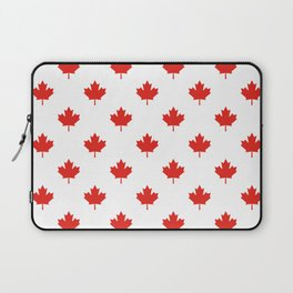 Large Tiled Canadian Maple Leaf Pattern Laptop Sleeve