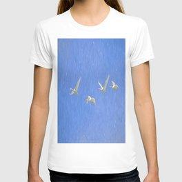 Swans Flying Art T-shirt