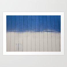 blue + white  Art Print