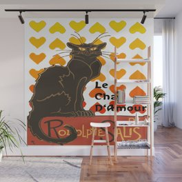 Le Chat Damour De Rodolphe Salis Valentine Cat Wall Mural