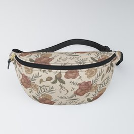 Antique Floral Pattern Fanny Pack