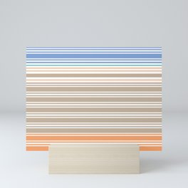 Cool Summer Stripes Mini Art Print