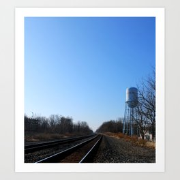 Along The Tracks Art Print