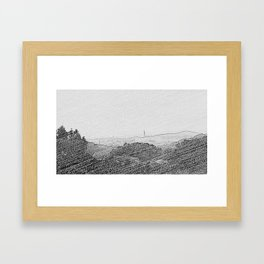 Taiwan off the mountains Framed Art Print