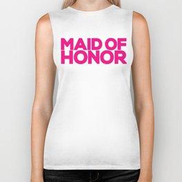 Maid of Honor Wedding Artwork - Hot Pink  Biker Tank