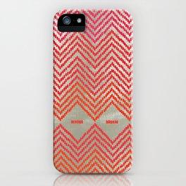 Woven Diamond - Red + Magenta iPhone Case