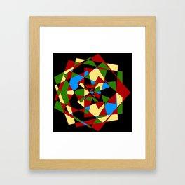 Shattered Multi-Color Geometric Framed Art Print