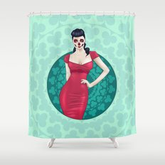 SkullGal Shower Curtain