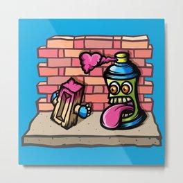 Graffiti Love Metal Print
