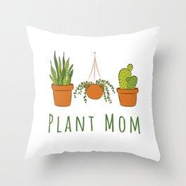Plant Mom Throw Pillow