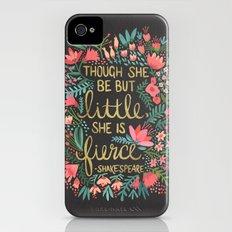 Little & Fierce on Charcoal Slim Case iPhone (4, 4s)